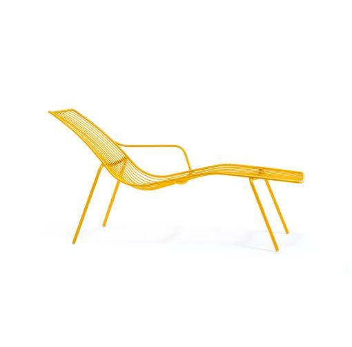 Nolita steel chaise longue for outdoor use
